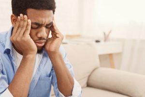 Man having anxiety